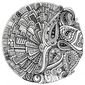 Intricate Mandala Coloring Pages - Mandala Coloring Pages 14a