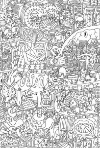 Intricate Mandala Coloring Pages - An Intricate Coloring Page for Adults Featuring Aliens 10t