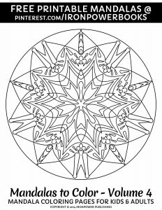 Intricate Mandala Coloring Pages - Free Printable Mandala Coloring Pages for Stress Relief or as Art therapy for More Easy 18q