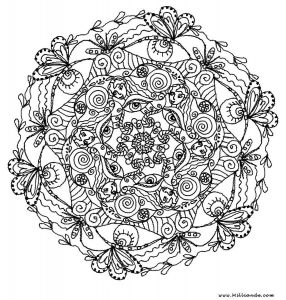 Intricate Mandala Coloring Pages - Free Coloring Printables 19r