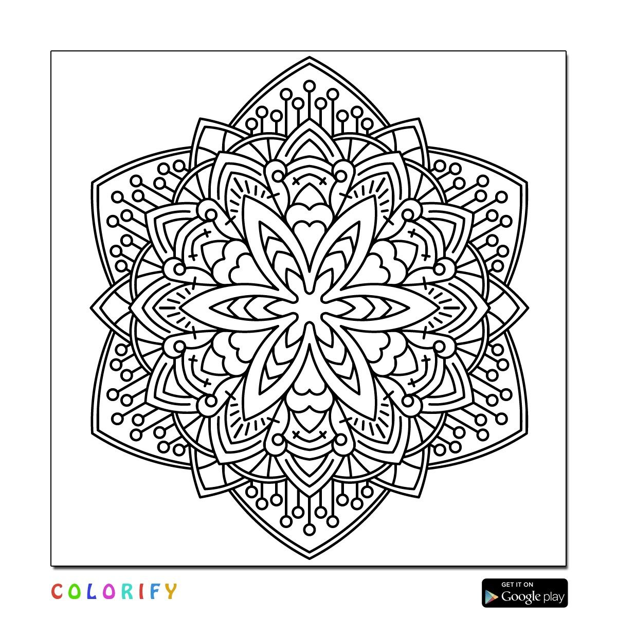 intricate mandala coloring pages free - photo#37