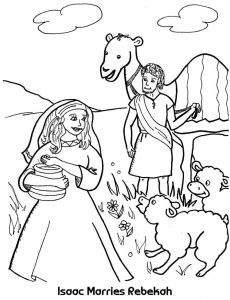 Isaac and Rebekah Coloring Pages - 76cd19d Bfc7ced7ef87f9 4l