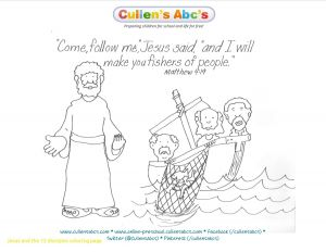 Jesus and His Disciples Coloring Pages - Jesus Disciples Coloring Page New 12 Disciples Coloring Page Inspirationa Jesus Calling His Disciples 20g