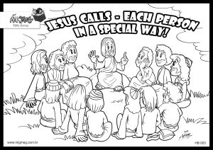 Jesus and His Disciples Coloring Pages - Jesus and the Disciples Coloring Pages 18k