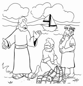 Jesus and His Disciples Coloring Pages - the 12 Disciples Coloring Pages Elegant Cool Disciples Od Jesus Christ Catching Fish Coloring Page 9t