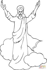 Jesus ascension Coloring Pages - Jesus 14i