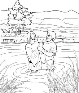 Jesus Baptism Coloring Pages - Coloring Pages Jesus and John the Baptist Coloring Jesus Coloring Pages for Kids Printable Fresh 9e