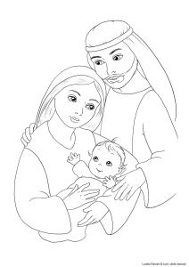 Jesus Baptism Coloring Pages - Jesus Mary and Joseph Coloring Page 16m