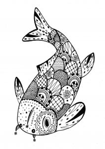 Jesus Christ Coloring Pages - A Beautiful Fish for A Coloring Page Very Zentangle From the Free Fish Coloring Pages 19g