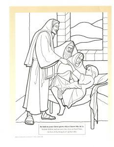 Jesus Healed the Paralyzed Man Coloring Pages - Jesus Heals A Paralytic Coloring Page 1d
