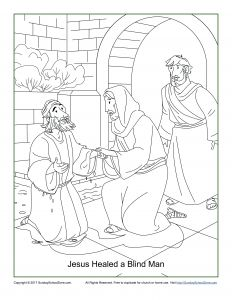 Jesus Healed the Paralyzed Man Coloring Pages - Jesus Heals the Blind Man Coloring Page Peter Heals the Lame Man Coloring Page New Jesus Heals A Blind Man 17t