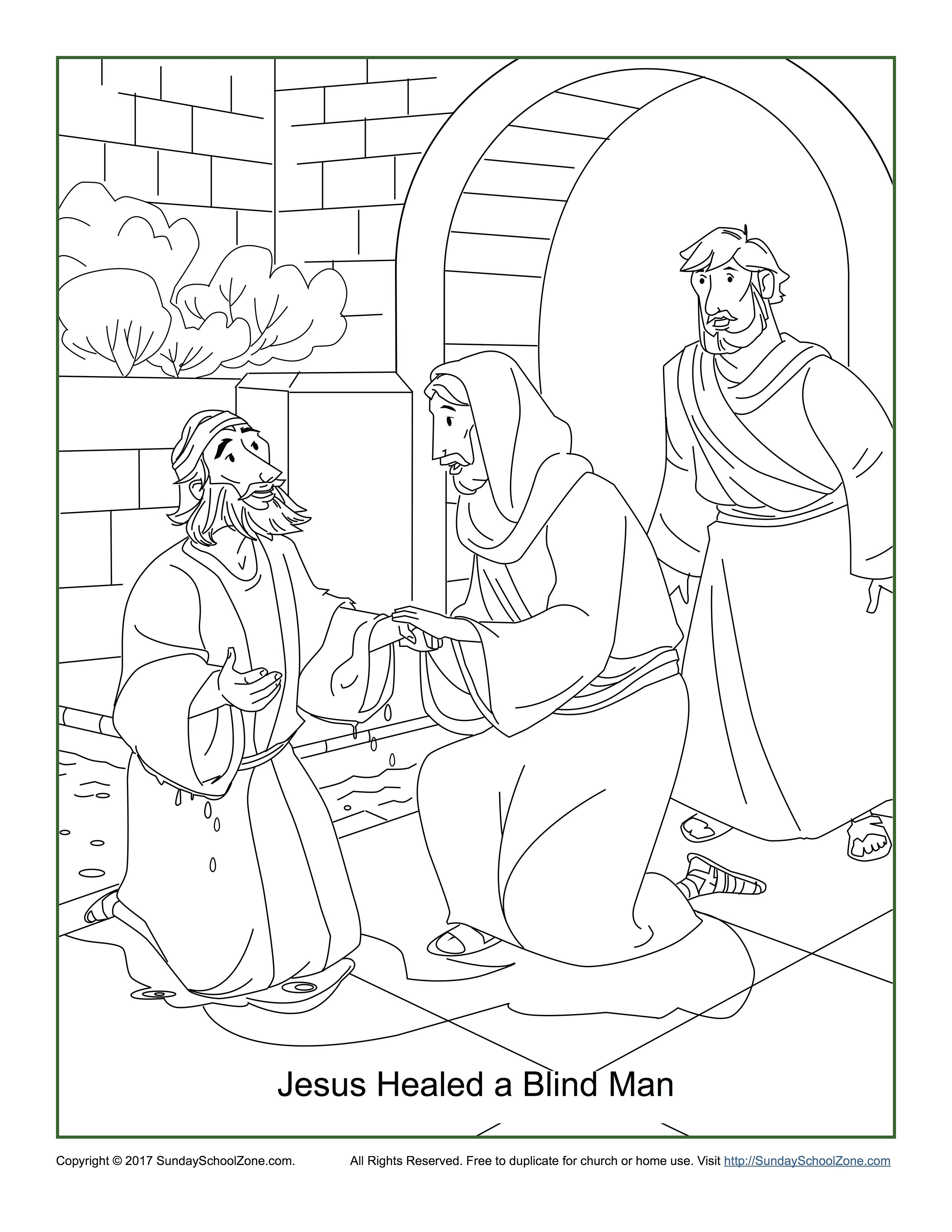 jesus healed the paralyzed man coloring pages Collection-Jesus Heals the Blind Man Coloring Page Peter Heals the Lame Man Coloring Page New Jesus Heals A Blind Man 9-p