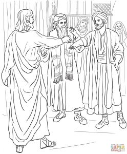 Jesus Healed the Paralyzed Man Coloring Pages - Jesus Heals the Blind Man Coloring Page Jesus Healing the Blind Man Coloring Page attractive Jesus 4s