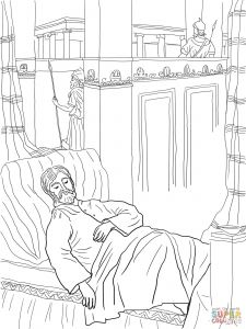 Jesus Healed the Paralyzed Man Coloring Pages - solomon asks for Wisdom Coloring Page 10a
