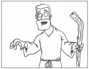 Jesus Healed the Paralyzed Man Coloring Pages - Jesus Heals the Blind Man Coloring Page Jesus Heals Blind Bartimaeus Coloring Page Refrence Simplistic Jesus 8g