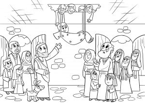 Jesus Healed the Paralyzed Man Coloring Pages - Coloring Pages 12n