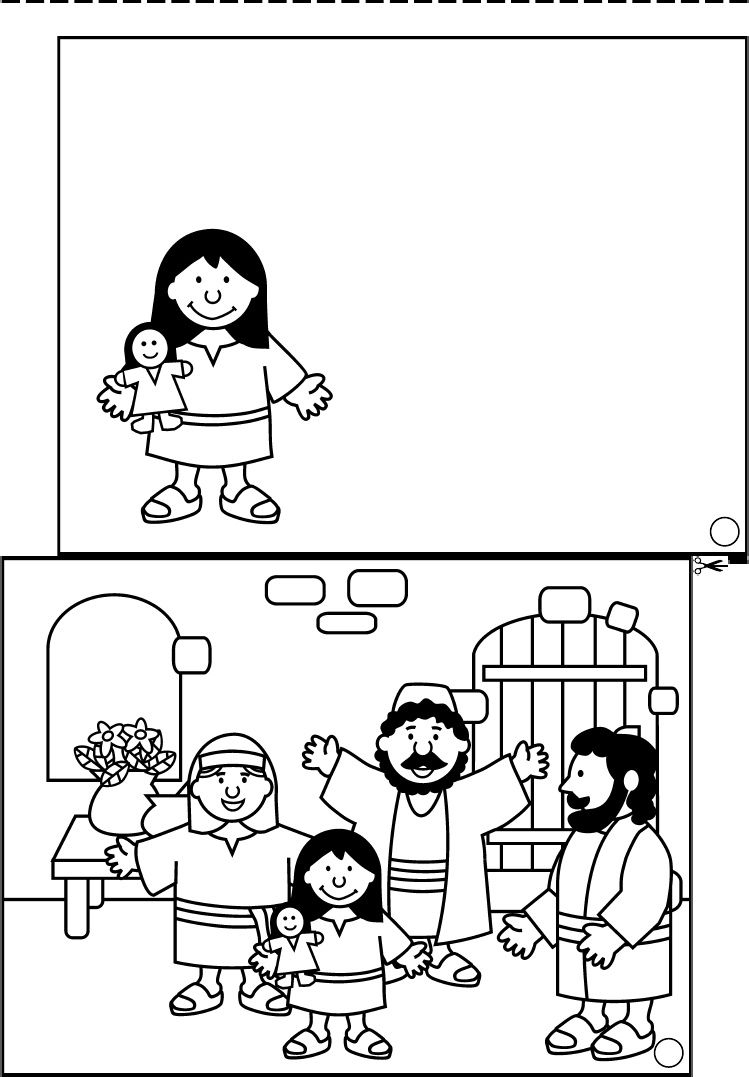 jesus heals jairus daughter coloring pages Download-daughter of Jairus figlia di giairo 21 749—1077 8-s