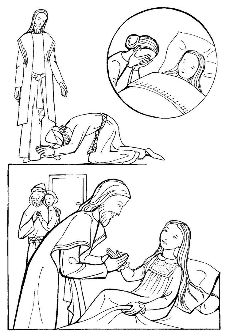 jesus heals jairus daughter coloring pages Collection-Image result for pictures of jesus healing jairus daughter 17-l