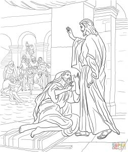 Jesus Heals the Blind Man Coloring Pages - Jesus Heals A Paralytic Coloring Page Jesus Healed the Paralyzed Man Coloring Pages Best Jesus Heals 11t