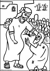 Jesus Heals the Blind Man Coloring Pages - Jesus Heals the Blind Man Coloring Page Jesus Heals the Paralytic Man Coloring Page Luxury Jesus Heals the 10l