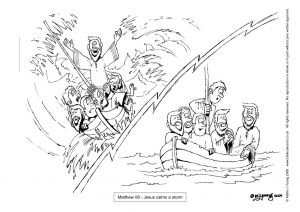 Jesus Miracles Coloring Pages - Jesus Calms the Storm Coloring Page Pic 16 1s