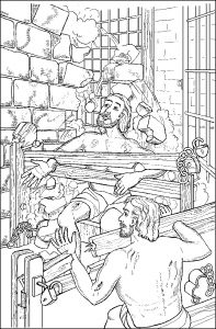 Jesus Miracles Coloring Pages - Paul and Silas In the Earthquake In Jail Paul & Silas In Prison Pinterest 3m