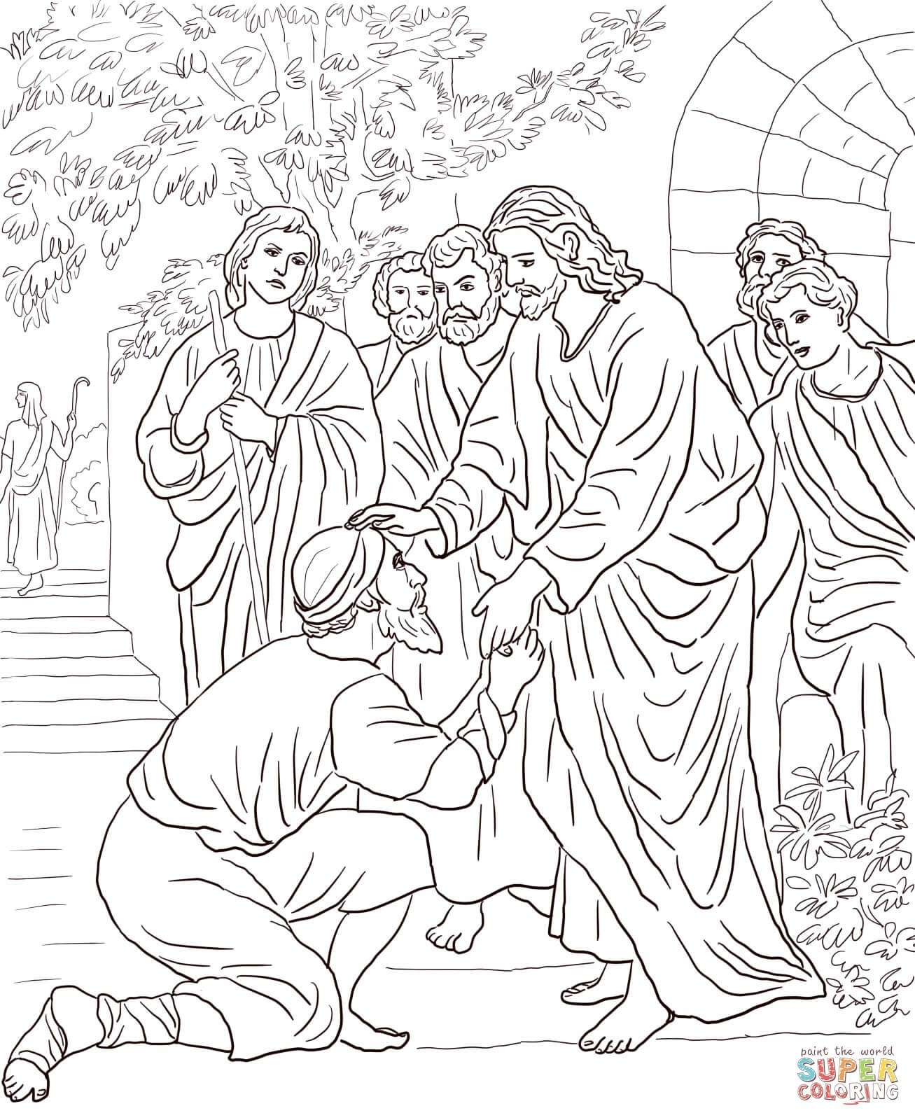 jesus miracles coloring pages Download-Jesus miracles coloring pages best of brilliant free png 1307x1600 Jesus first miracle coloring pages 20-i