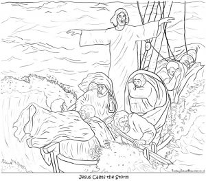 Jesus Storybook Bible Coloring Pages - Jesus Storybook Bible Coloring Pages Jesus Calms the Storm Coloring Page Umal Me 16m