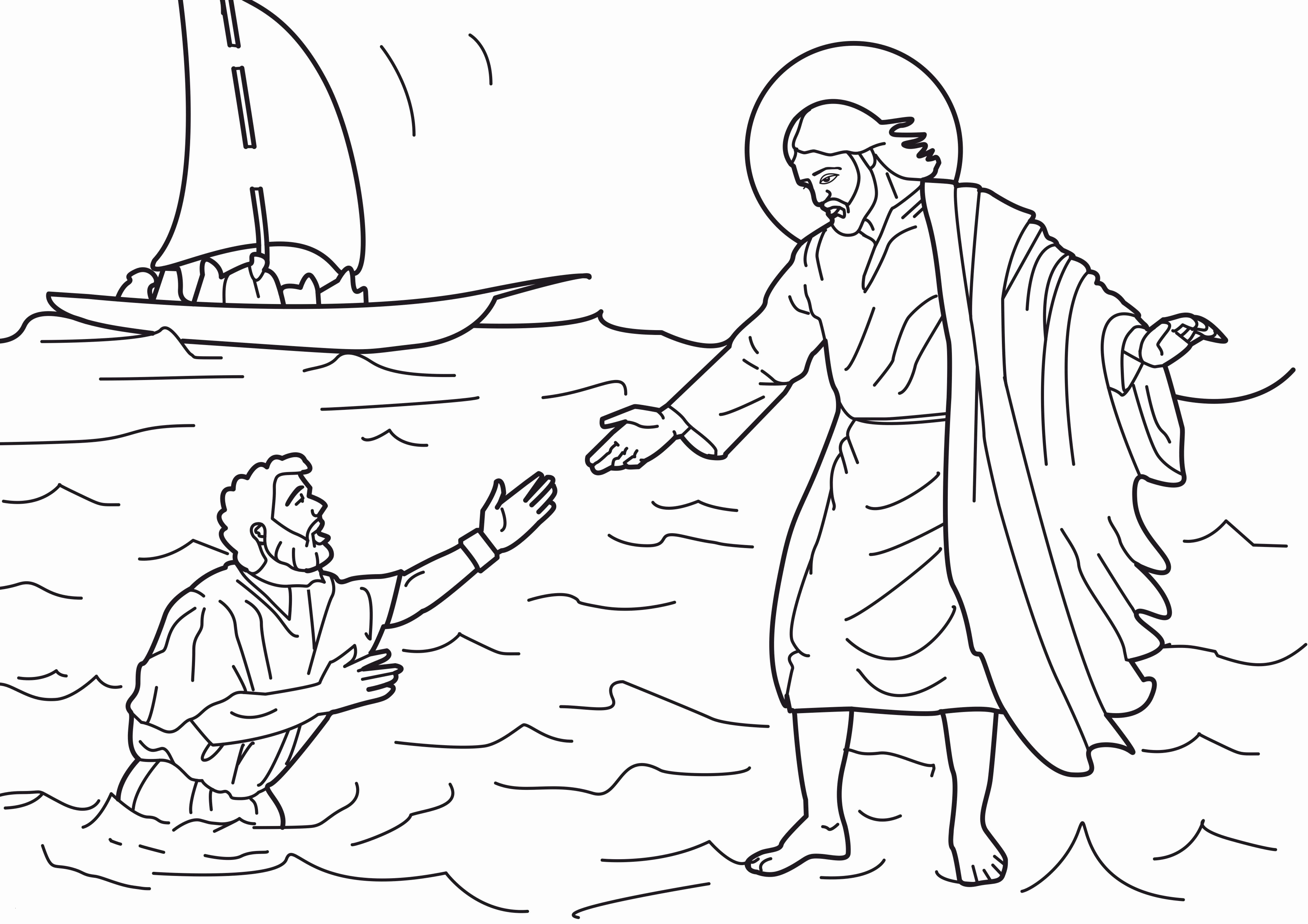 25 Jesus Walks On Water Coloring Pages Gallery Coloring Sheets