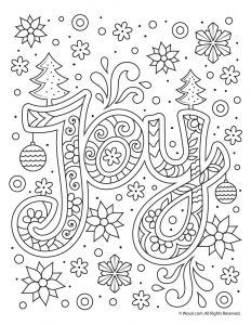 Jewish Holiday Coloring Pages - Christmas Joy Typography Coloring Page Woo Jr Kids Activities 5s