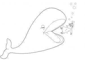 Jonah and the Whale Coloring Pages for Preschoolers - Portfolio 3n