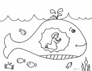 Jonah and the Whale Coloring Pages for Preschoolers - Jonah and the Big Fish Coloring Page Jonah and the Whale Coloring Page Brilliant Free Printable 17t