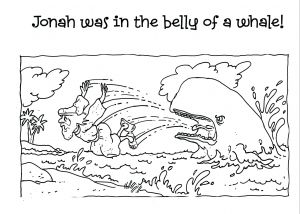 Jonah and the Whale Coloring Pages for Preschoolers - Jonah and the Whale Coloring Pages for Preschoolers Best Bible Story Coloring Pages Awesome Easy 1t