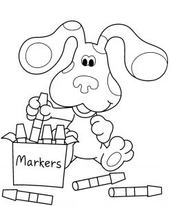 "Kid Online Coloring Pages - Alt=""blue S Clues Coloring Page"" 11q"
