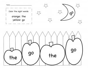 Kindergarten Sight Words Coloring Pages - Net Kindergarten Sight Words Worksheets Pdf 7q