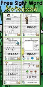 Kindergarten Sight Words Coloring Pages - Free Sample Sight Word Notebook Writing Prompts Pre Primer 19b