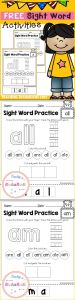 Kindergarten Sight Words Coloring Pages - Freebies Free Kindergarten Activities Free Pre K Activities Free First Grade Activities Pre K Kindergarten 1st Grade First Grade Sight Word 19m