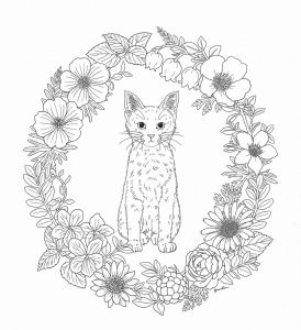 Kittens Coloring Pages - Harmony Nature Adult Coloring Book Pg 39 13j
