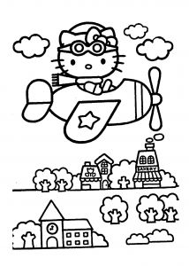 Kittens Coloring Pages - Awesome Kittens Coloring Sheet Download 15n Hello Kitty On Airplain – Coloring Pages for Kids 11d