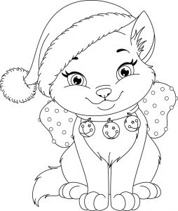Kittens Coloring Pages - Kitty Cat Coloring Pages Inspirational Christmas Kitty Free Coloring Page • Animals Christmas Holidays 18l