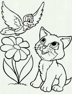 Kitty Cat Coloring Pages Printable - Free Cat Coloring Pages Unique Kitty Cat Coloring Pages Printable New Cool Od Dog Free Colouring 4s