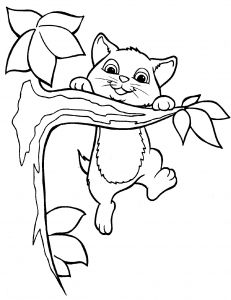 Kitty Cat Coloring Pages Printable - Cute Cat Coloring Pages Magnificent Cute Cat Coloring Pages as though Cat and Kitten Coloring 5d