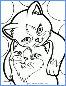 Kitty Cat Coloring Pages Printable - Cat Printable Coloring Pages 5b