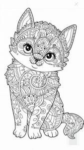 Kitty Cat Coloring Pages Printable - Cute Kitten Coloring Page More 20r