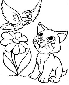 Kitty Cat Coloring Pages Printable - Kitty Cat Coloring Pages Free Printable for Kids Page 6h