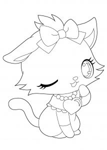 Kitty Cat Coloring Pages Printable - Cute Cat Coloring Pages Superb Cute Cat Coloring Pages as though Jewelpet Funny Kitty Coloring 20o
