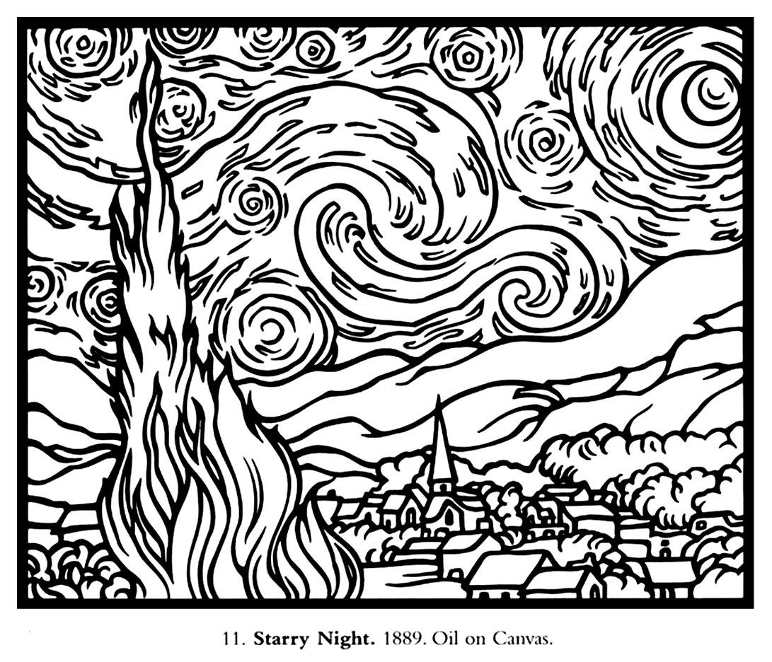 large coloring pages Download-Free Coloring Page Coloring Adult Van Gogh Starry Night Frisch Ausmalbilder Angelo 18-e