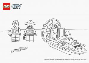 Lego City Coloring Pages - Coloriage Lego City Big Police Coloring Pages Swamp Sta 17d