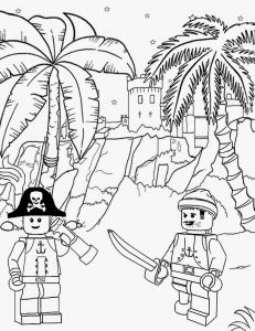 Lego City Coloring Pages - Lots Of Kinds Of Coloring Pages Lego Etc Long John Silver Sea Pirate Castle Lego Sailor Treasure island Printable Lego City Coloring Sheets 18g