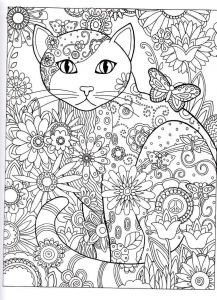 Lemonade Stand Coloring Pages - Coloriage Chat Fleurs Coloriage Chat Chat Art Thérapie Chat Plus 2j